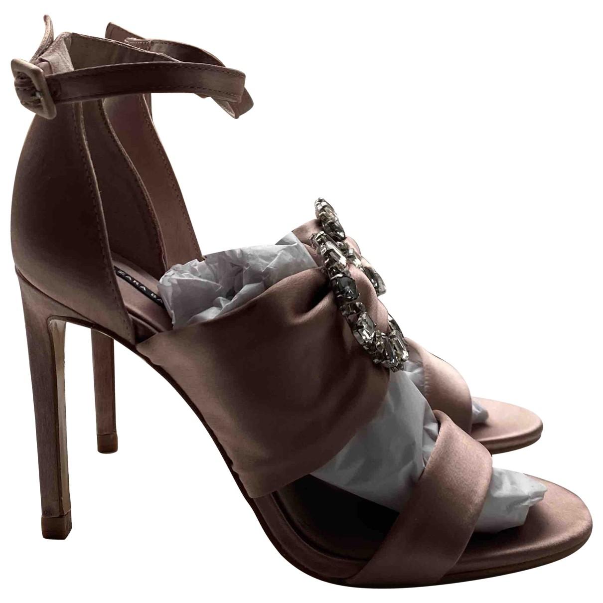 Zara \N Pink Cloth Sandals for Women 38 EU