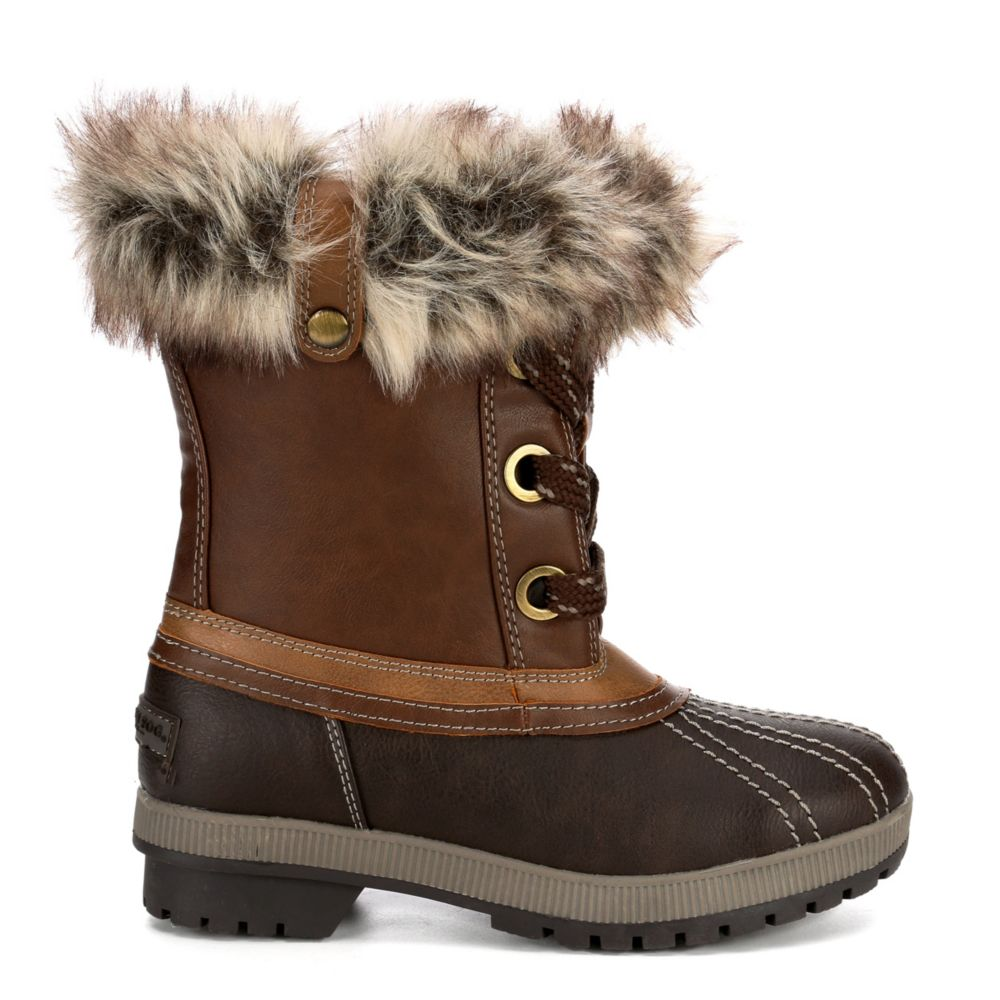 London Fog Womens Milly Cold Weather Duck Boot
