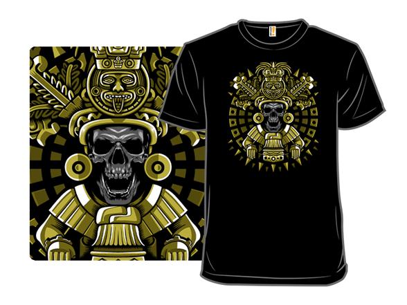 Mayan Skull T Shirt