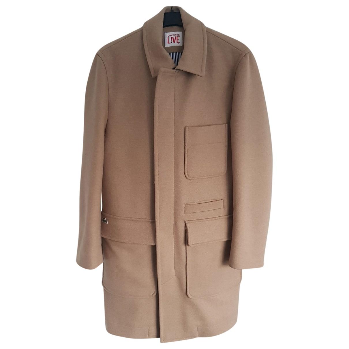 Lacoste Live - Manteau   pour homme en laine - beige