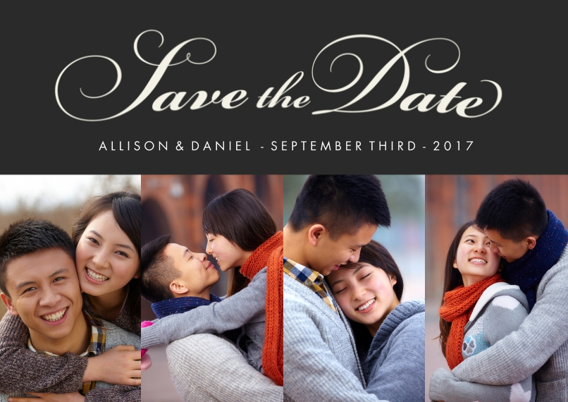 Save the Date 5x7 Cards, Premium Cardstock 120lb with Rounded Corners, Card & Stationery -Classic Script Landscape