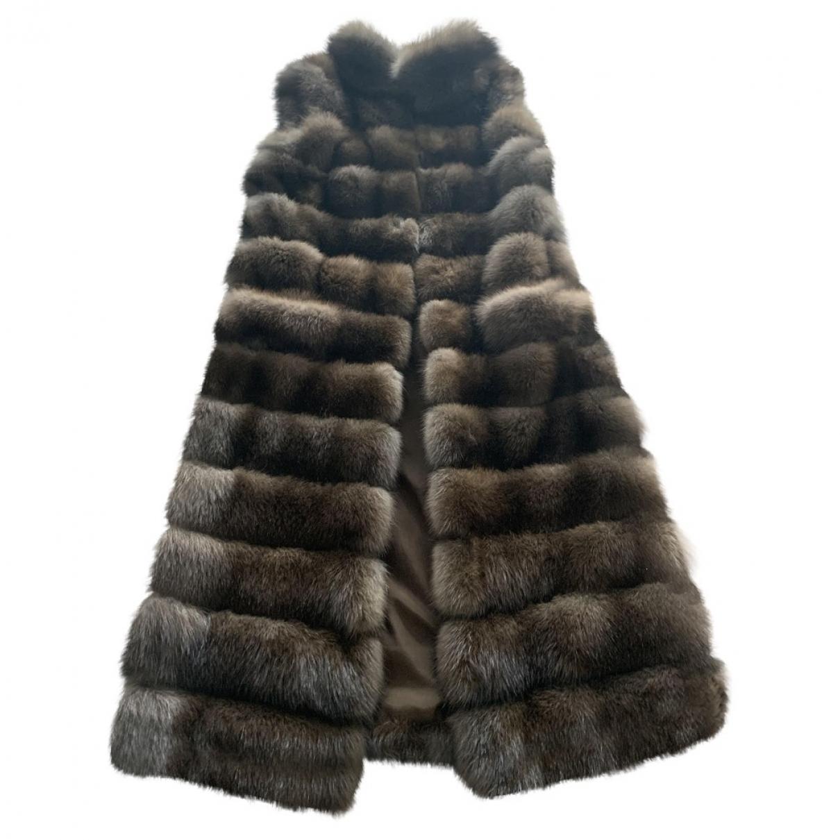Saga Furs \N Brown Fur coat for Women 42 IT