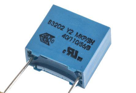 EPCOS 10nF Polypropylene Capacitor PP 300V ac ±20% Tolerance Through Hole B32021 Series (10)