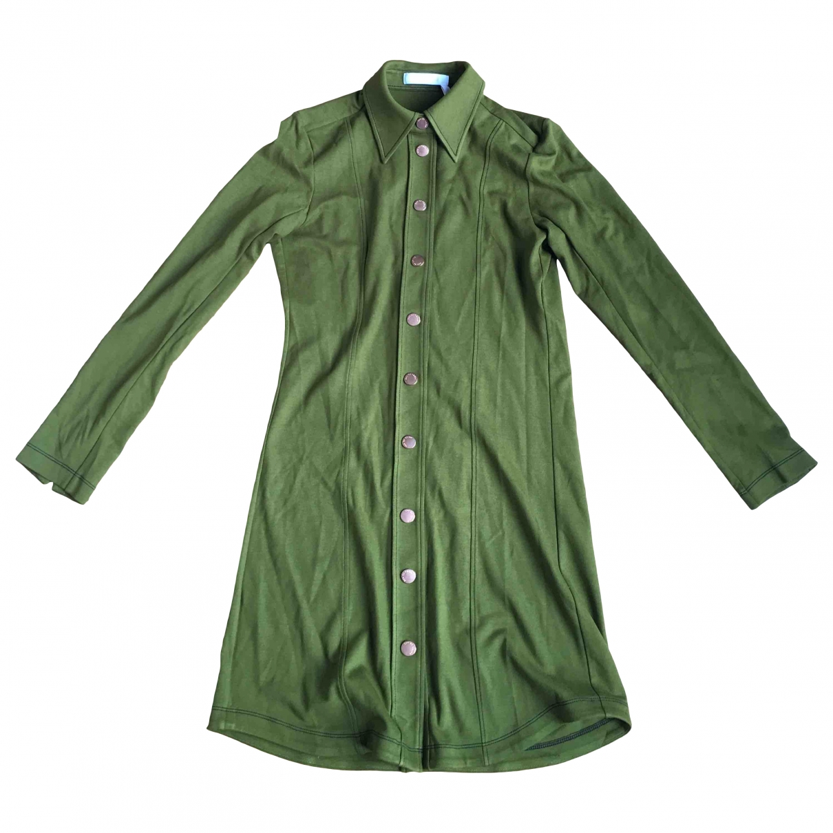 See By Chloé \N Khaki Cotton - elasthane dress for Women 36 FR