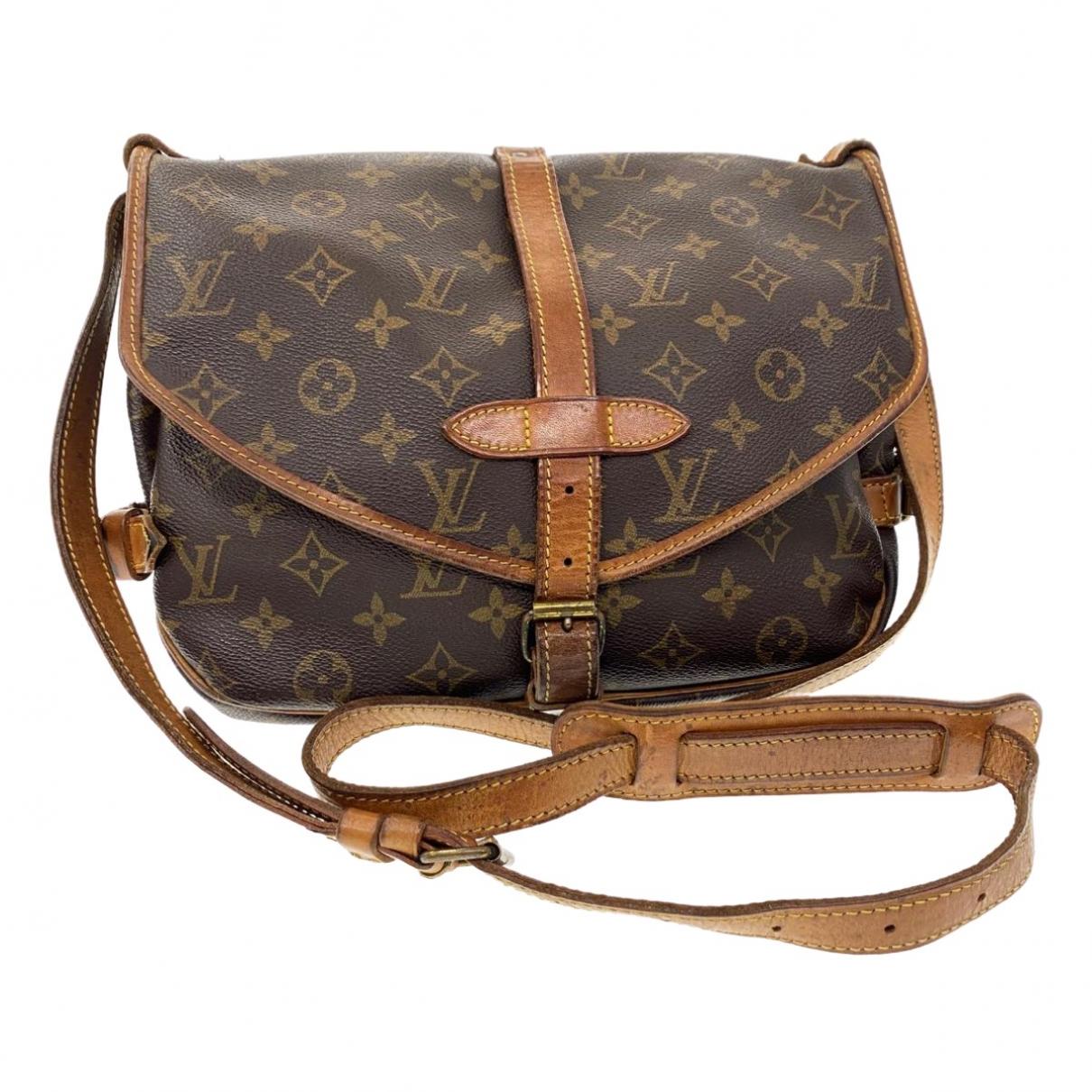 Louis Vuitton Saumur Brown Cloth handbag for Women \N