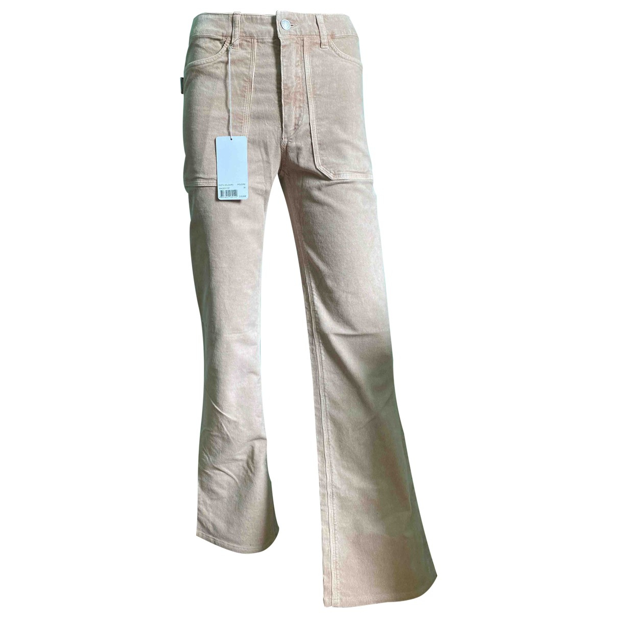 Zadig & Voltaire \N Beige Cotton Trousers for Women 36 FR