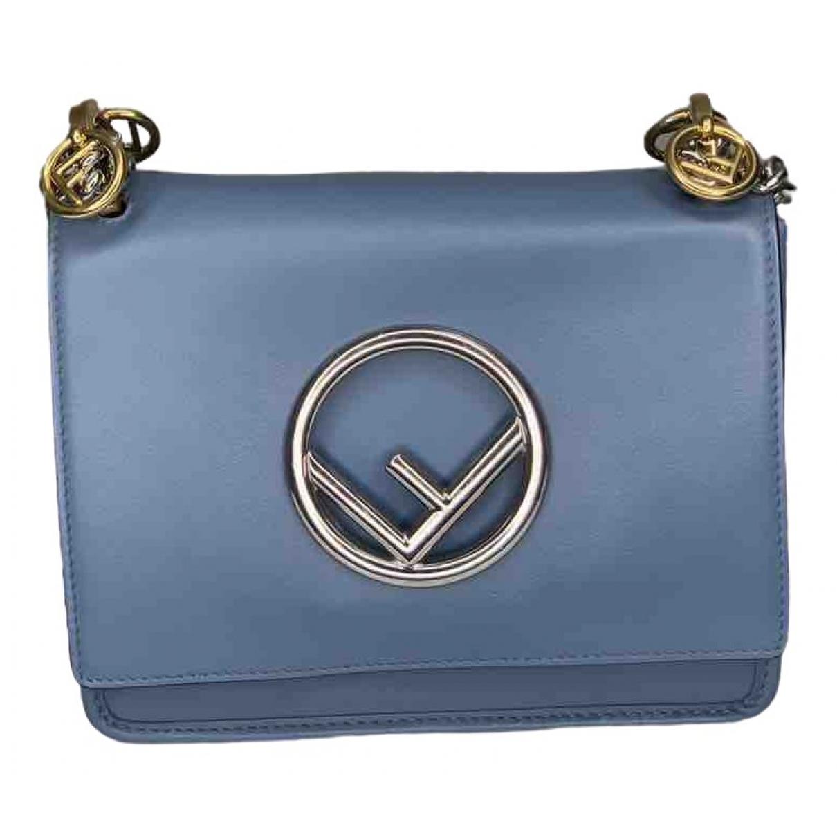 Fendi Kan I Logo Blue Leather handbag for Women \N