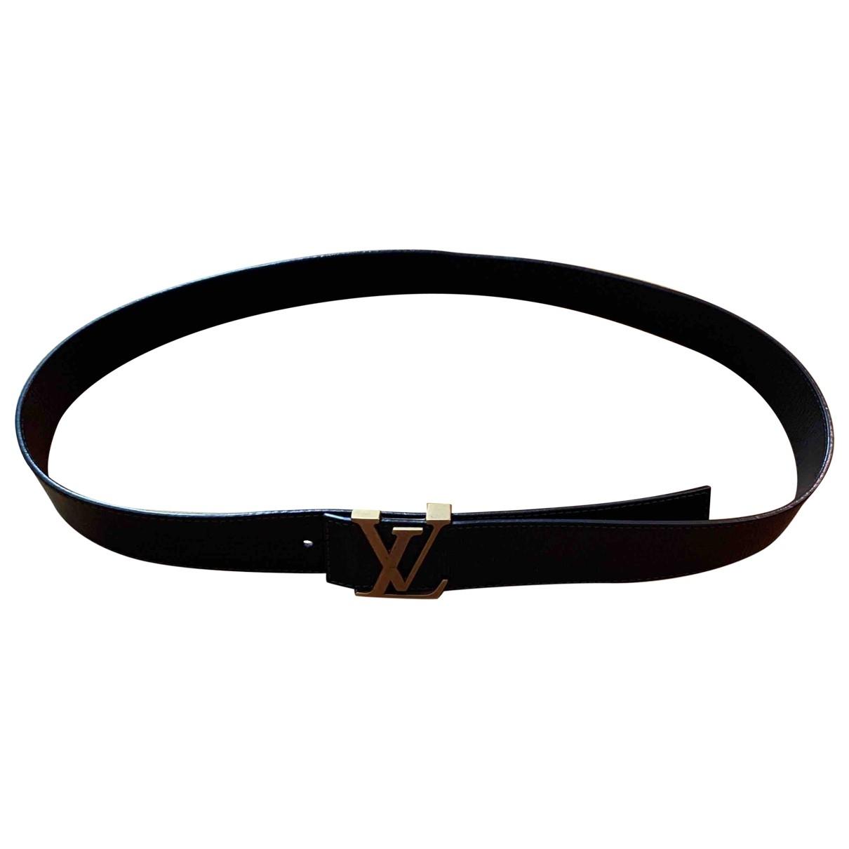 Louis Vuitton Initiales Brown Leather belt for Men 100 cm