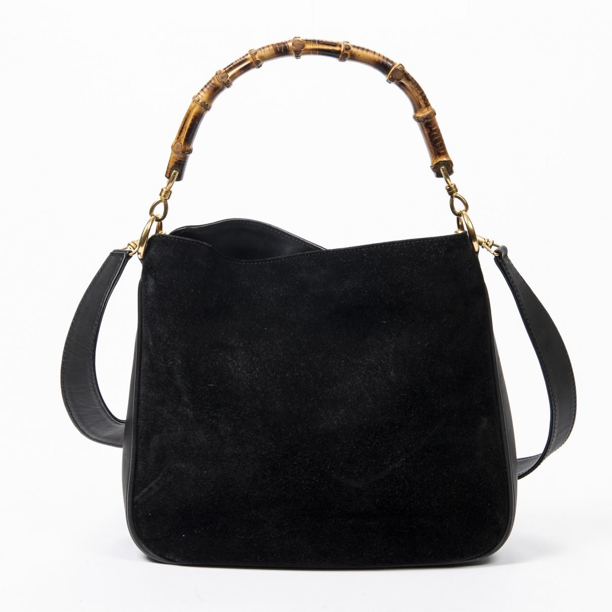 Gucci Bamboo Black Leather handbag for Women \N