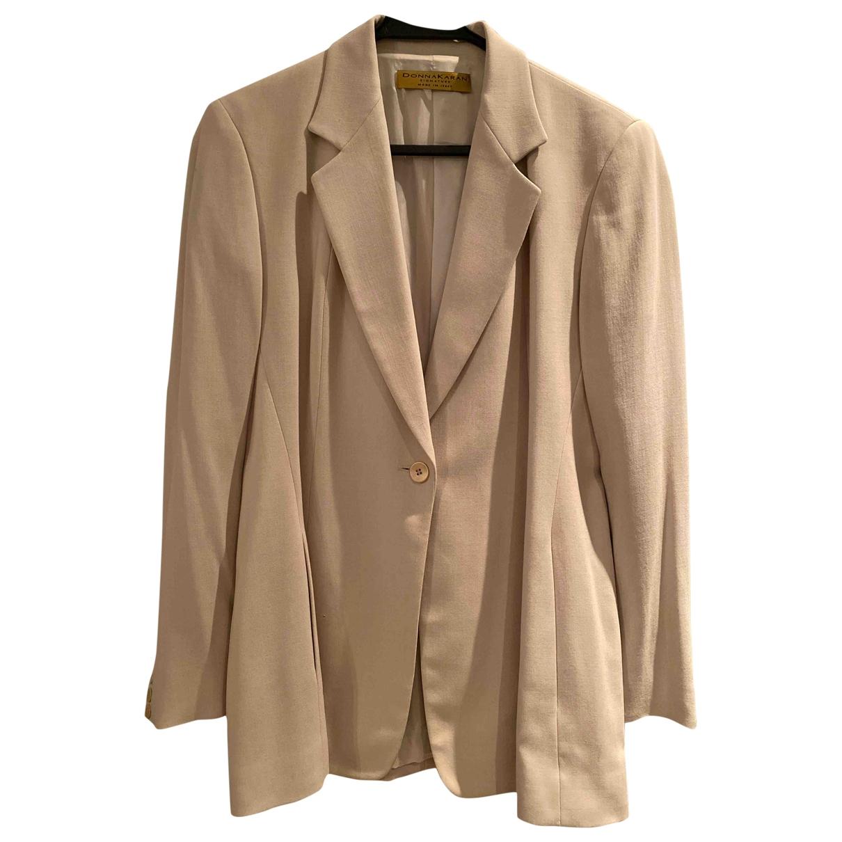 Donna Karan \N White Wool jacket for Women 12 US