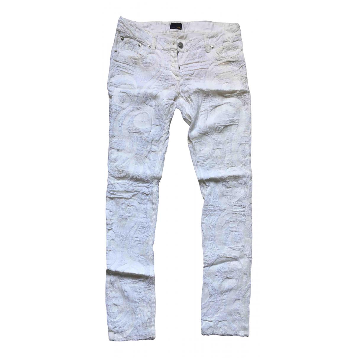 Fendi \N Jeans in  Weiss Baumwolle