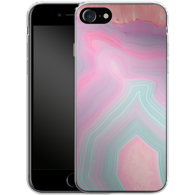 Apple iPhone 8 Silikon Handyhuelle - Pastel Agate von Emanuela Carratoni