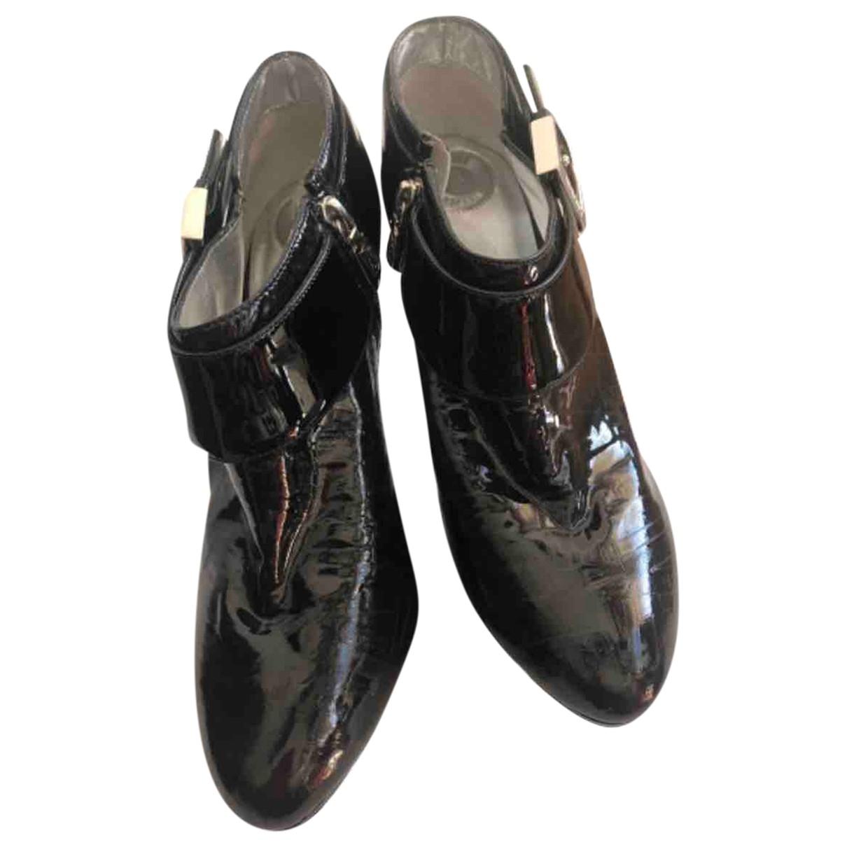 Versus \N Stiefel in  Schwarz Lackleder