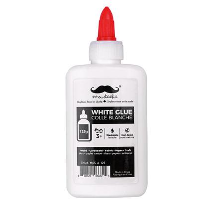 Colle blanche lavable non toxique, 125g - Moustache@ - 1/paquet