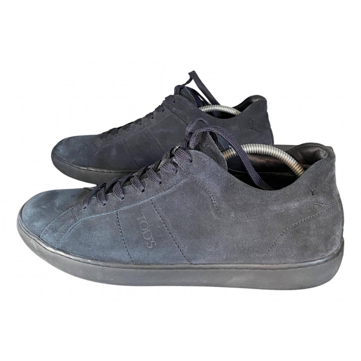 Tod's \N Sneakers in  Blau Veloursleder