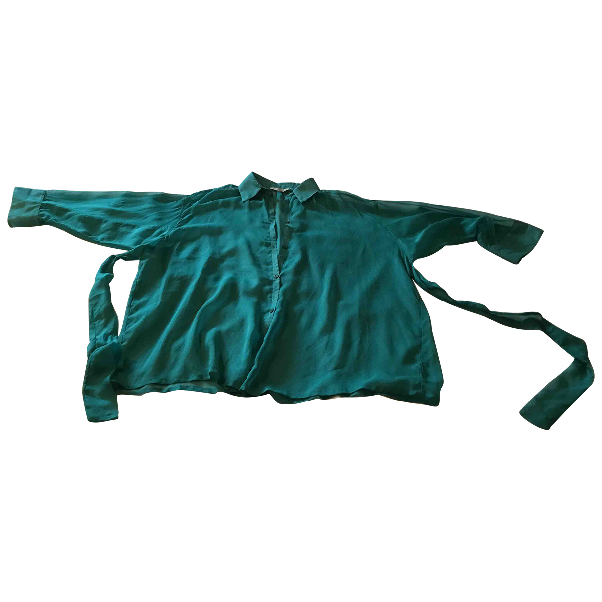 Non Signé / Unsigned \N Green Silk  top for Women S International