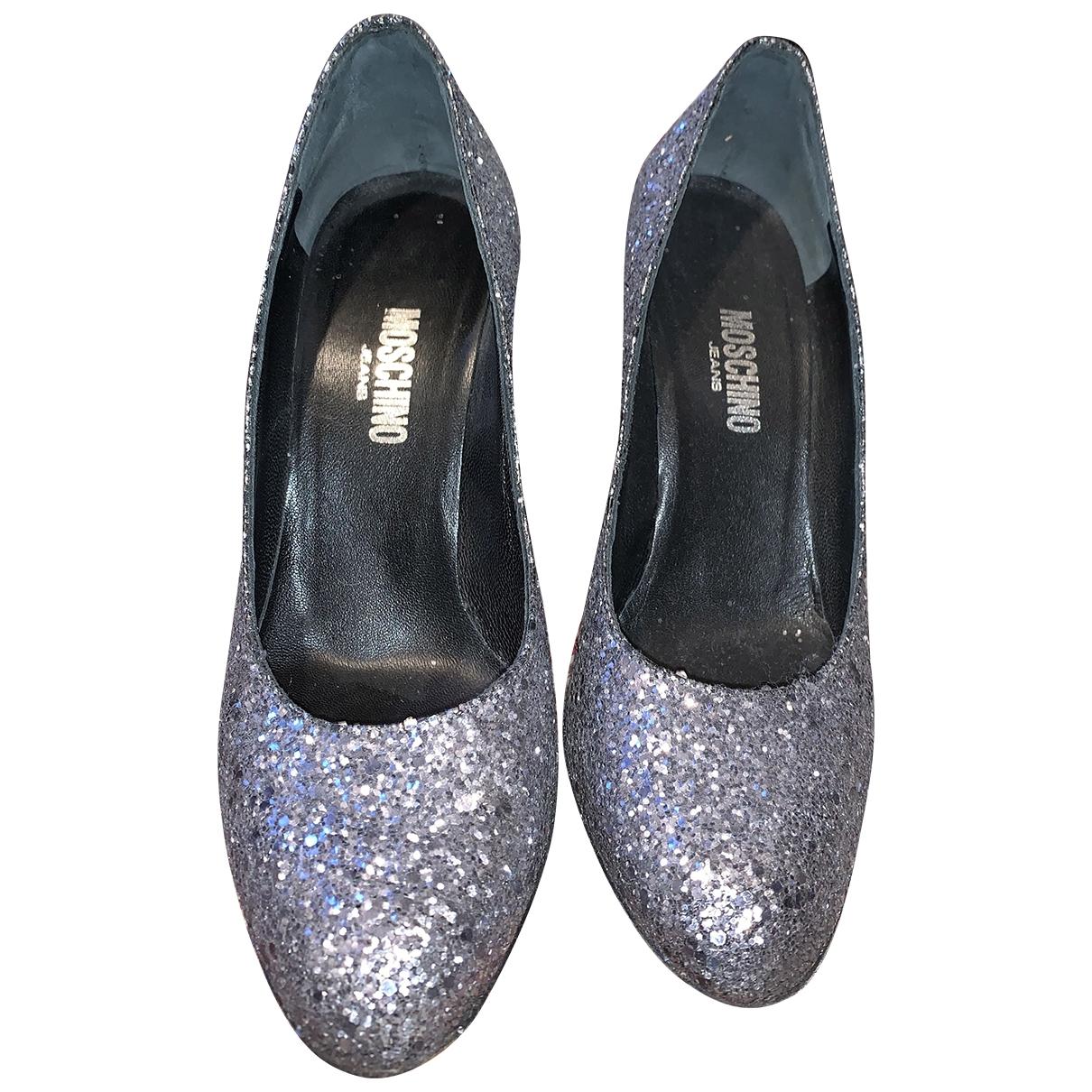 Moschino \N Silver Glitter Heels for Women 36.5 EU