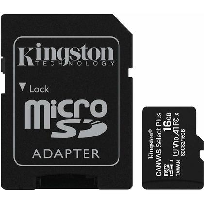 Kingston micSDHC Canvas Select Plus MicroSD Card + SD card adapter (SDCS2)