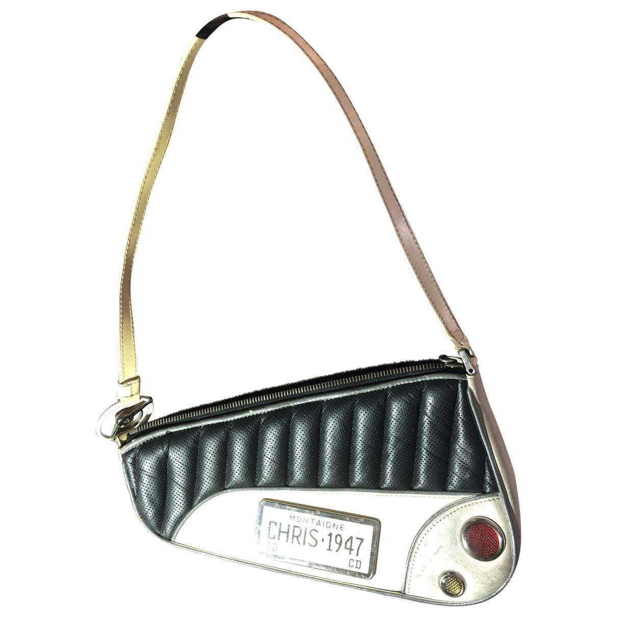 Dior Cadillac  Handtasche in  Weiss Leder
