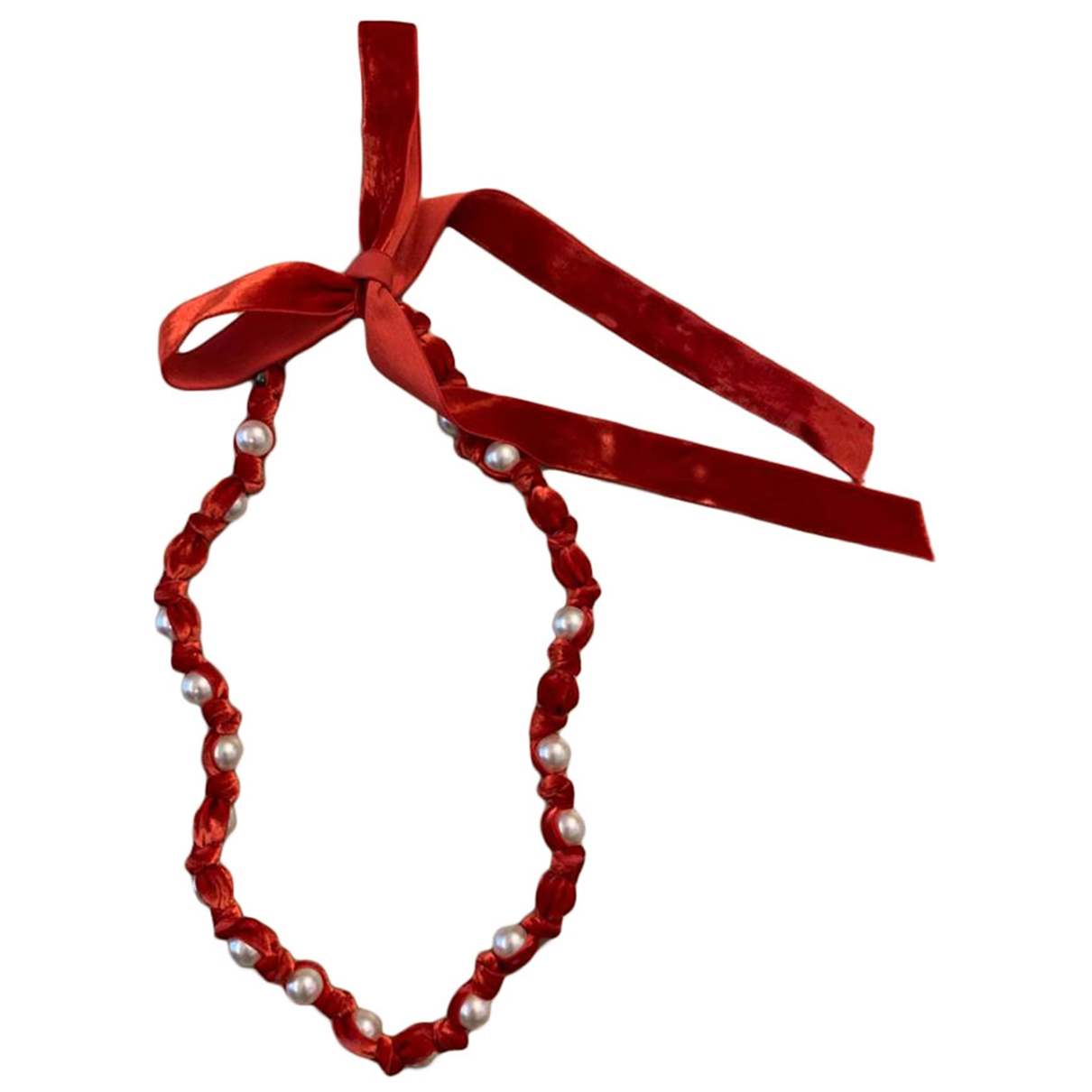 Lanvin \N Red Cloth necklace for Women \N