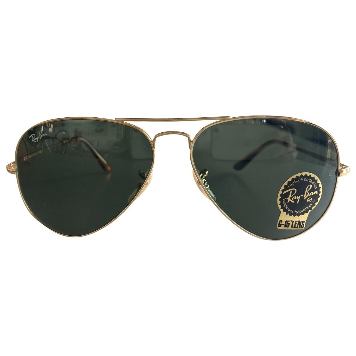 Ray-ban Aviator Sonnenbrillen in  Gold Metall