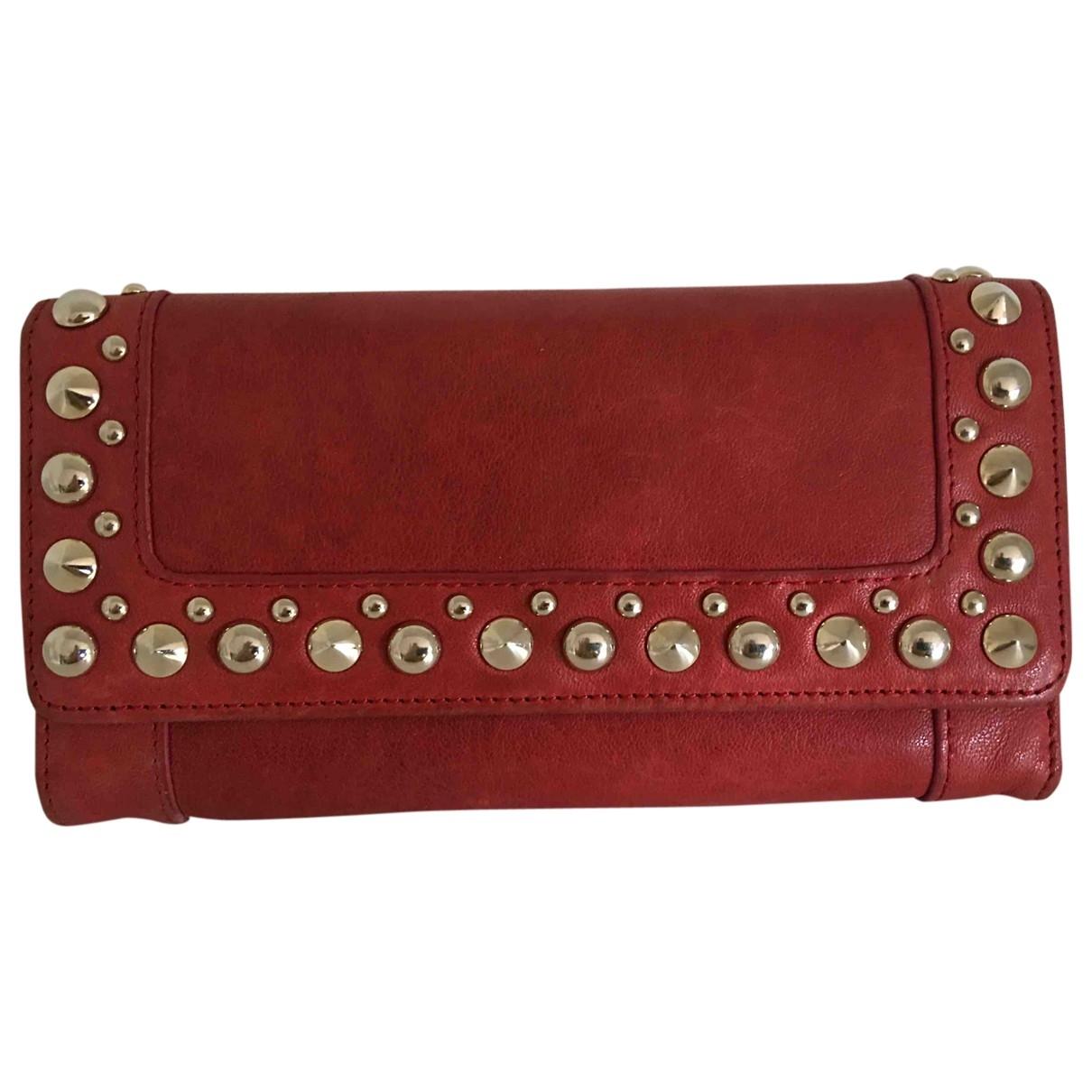 Patrizia Pepe \N Portemonnaie in  Rot Leder