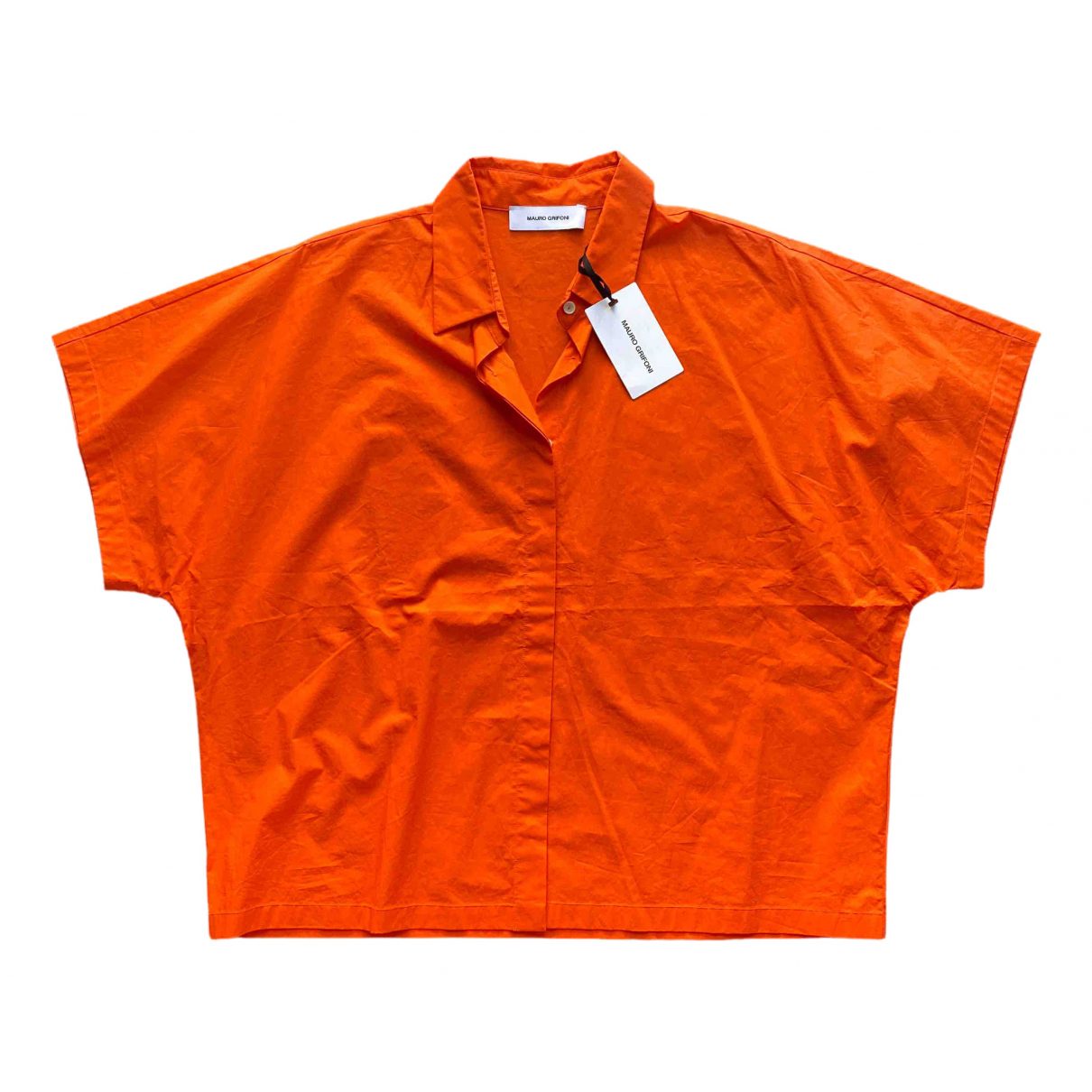 Mauro Grifoni \N Orange Cotton  top for Women 40 IT