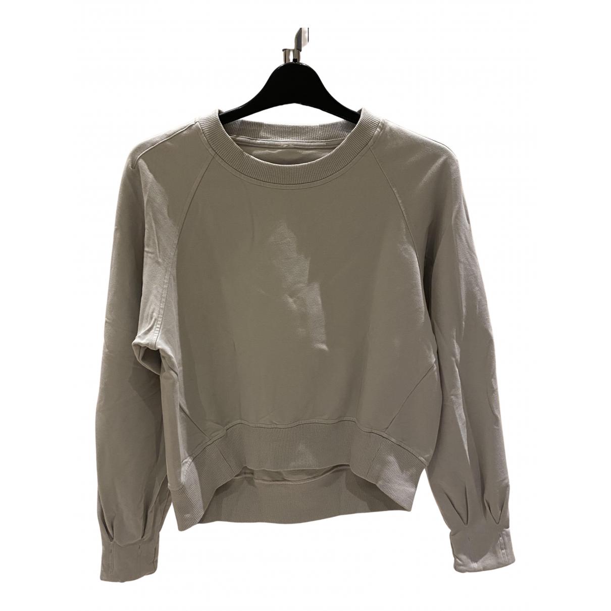 Lululemon - Pull   pour femme en coton - gris