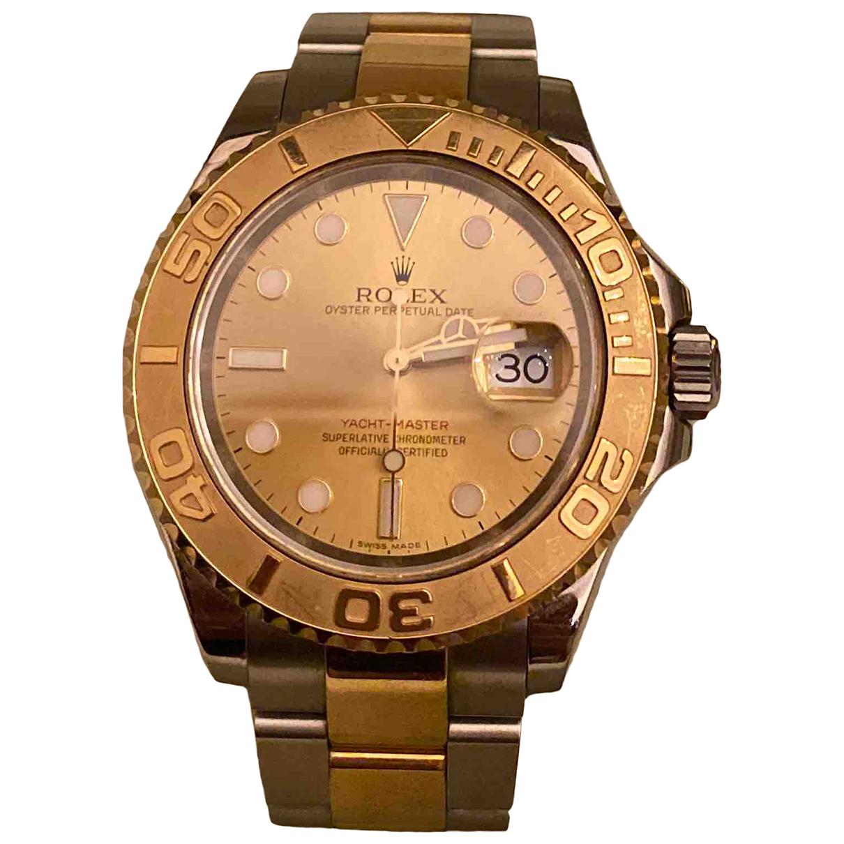 Rolex - Montre Yacht-Master pour homme en or et acier