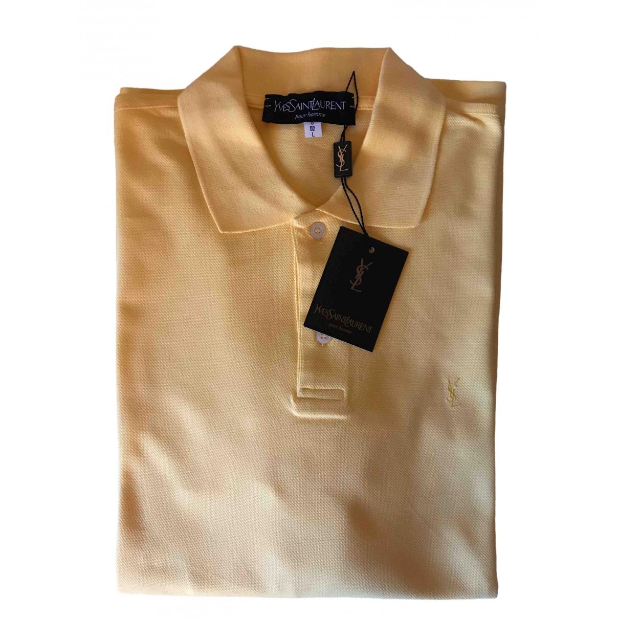 Yves Saint Laurent - Polos   pour homme en coton - jaune
