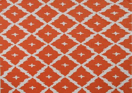 PA0058E 7 x 10 ft. Tangier Area Rug  in Orange and
