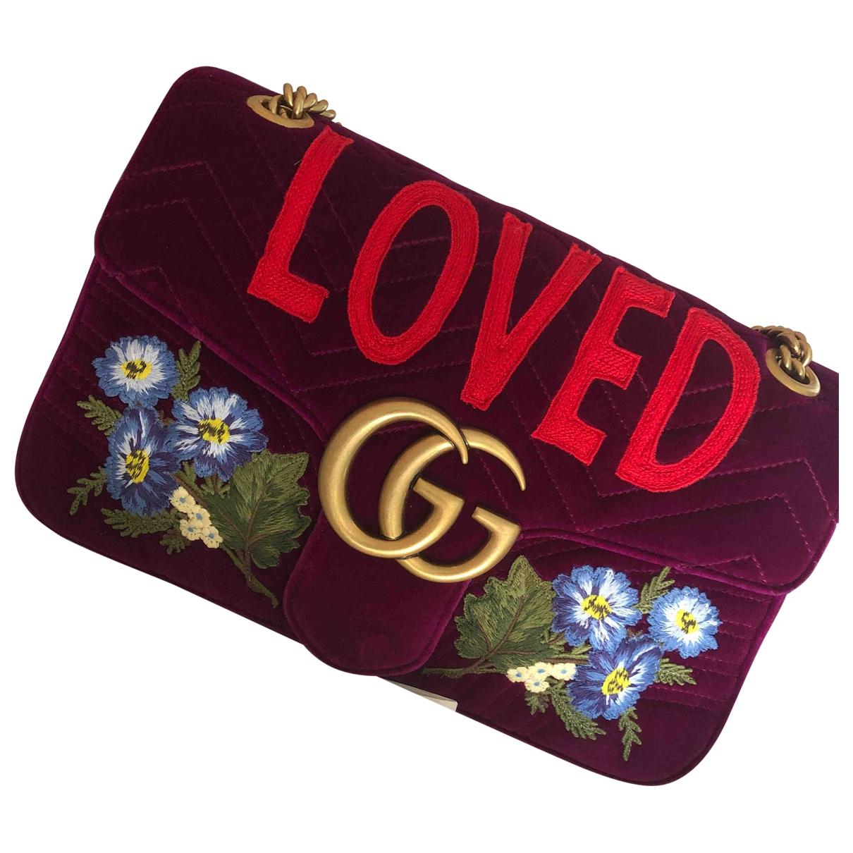Gucci Marmont Purple Velvet handbag for Women \N