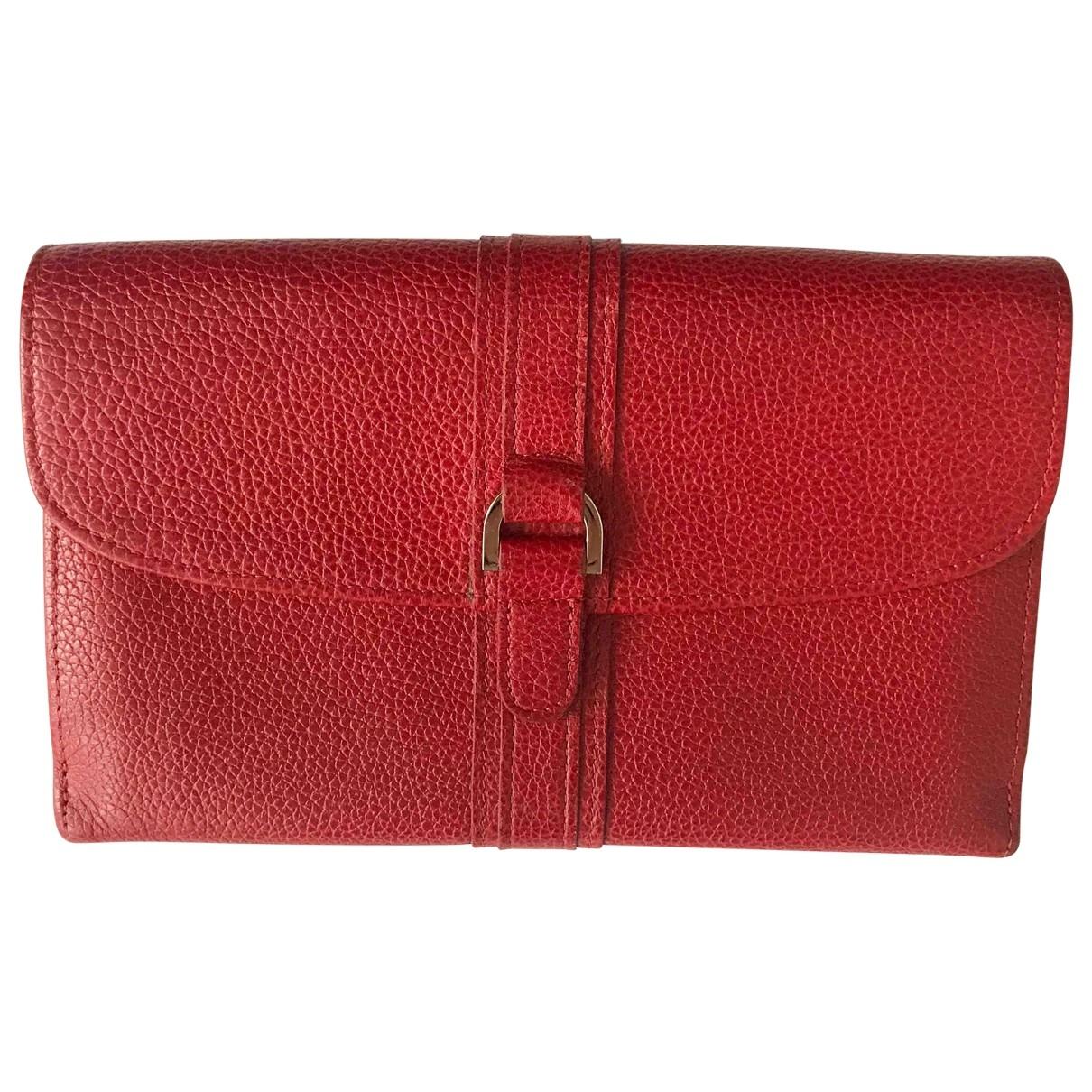 Longchamp - Portefeuille   pour femme en cuir - rouge