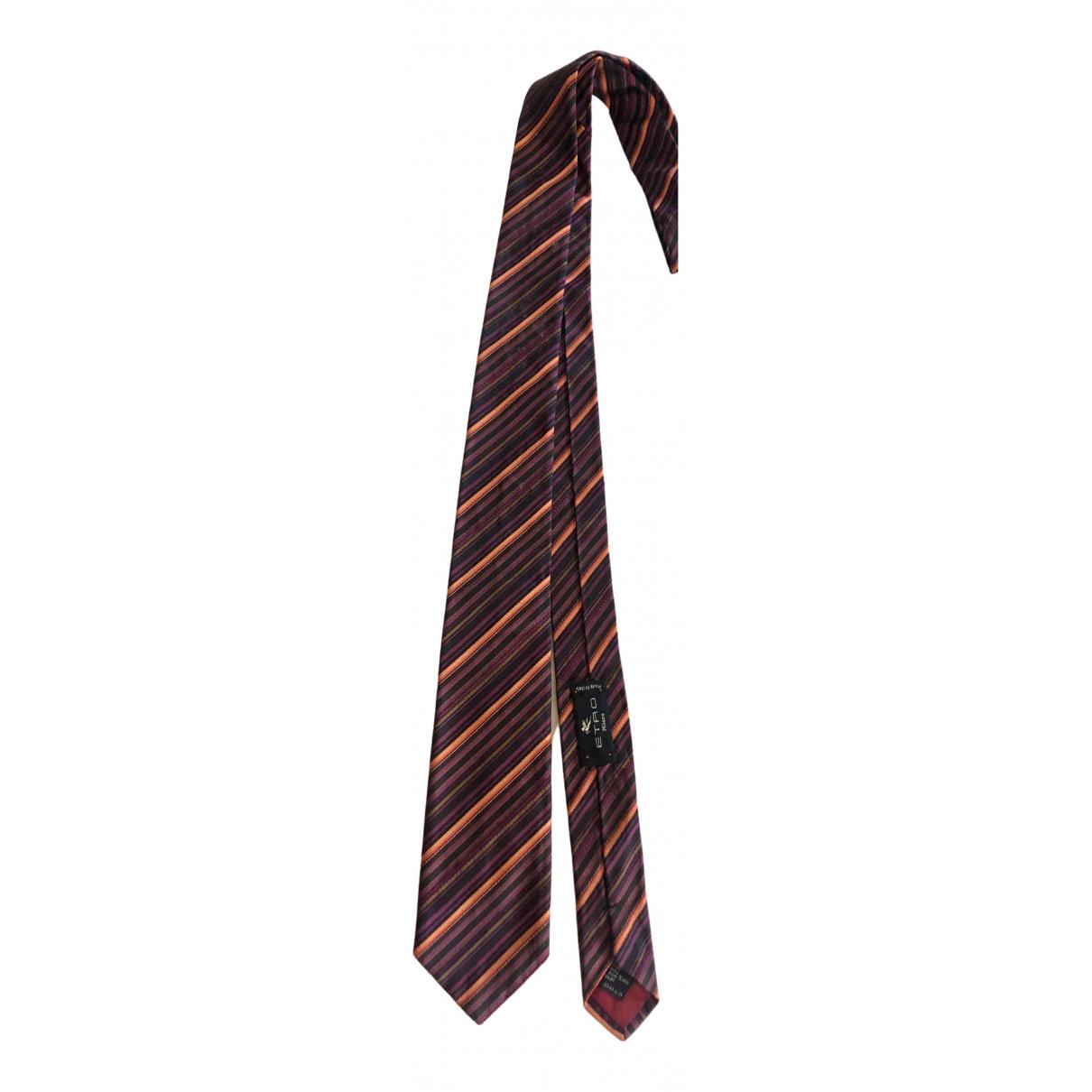 Etro \N Multicolour Silk Ties for Men \N