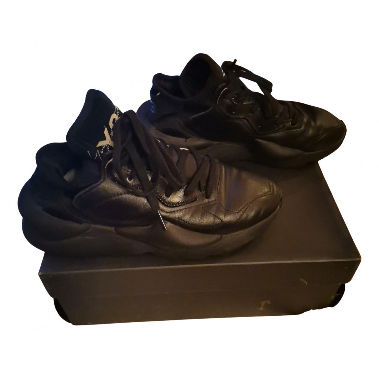 Y-3 \N Sneakers in  Schwarz Lackleder