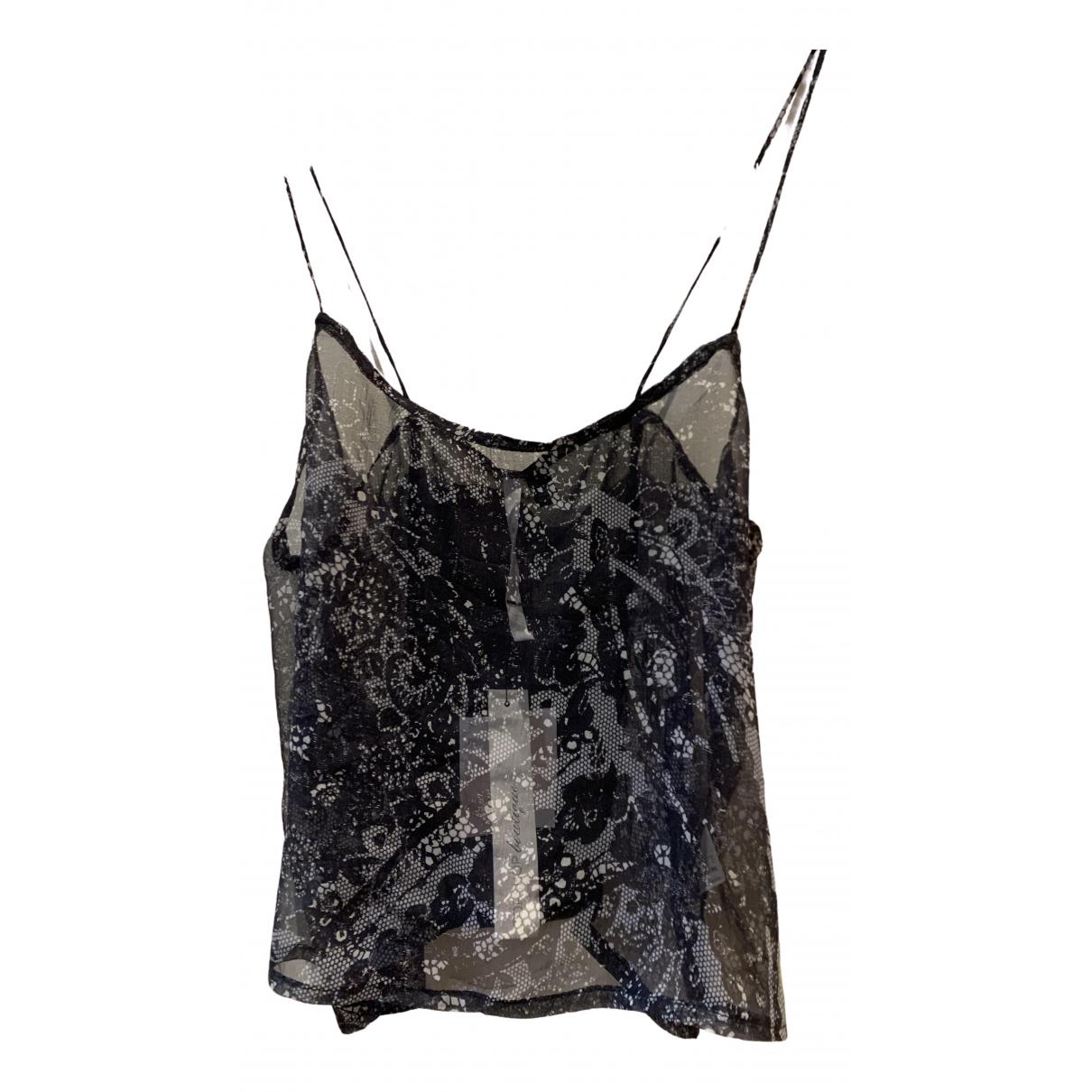 Topshop Boutique - Top   pour femme en soie - noir