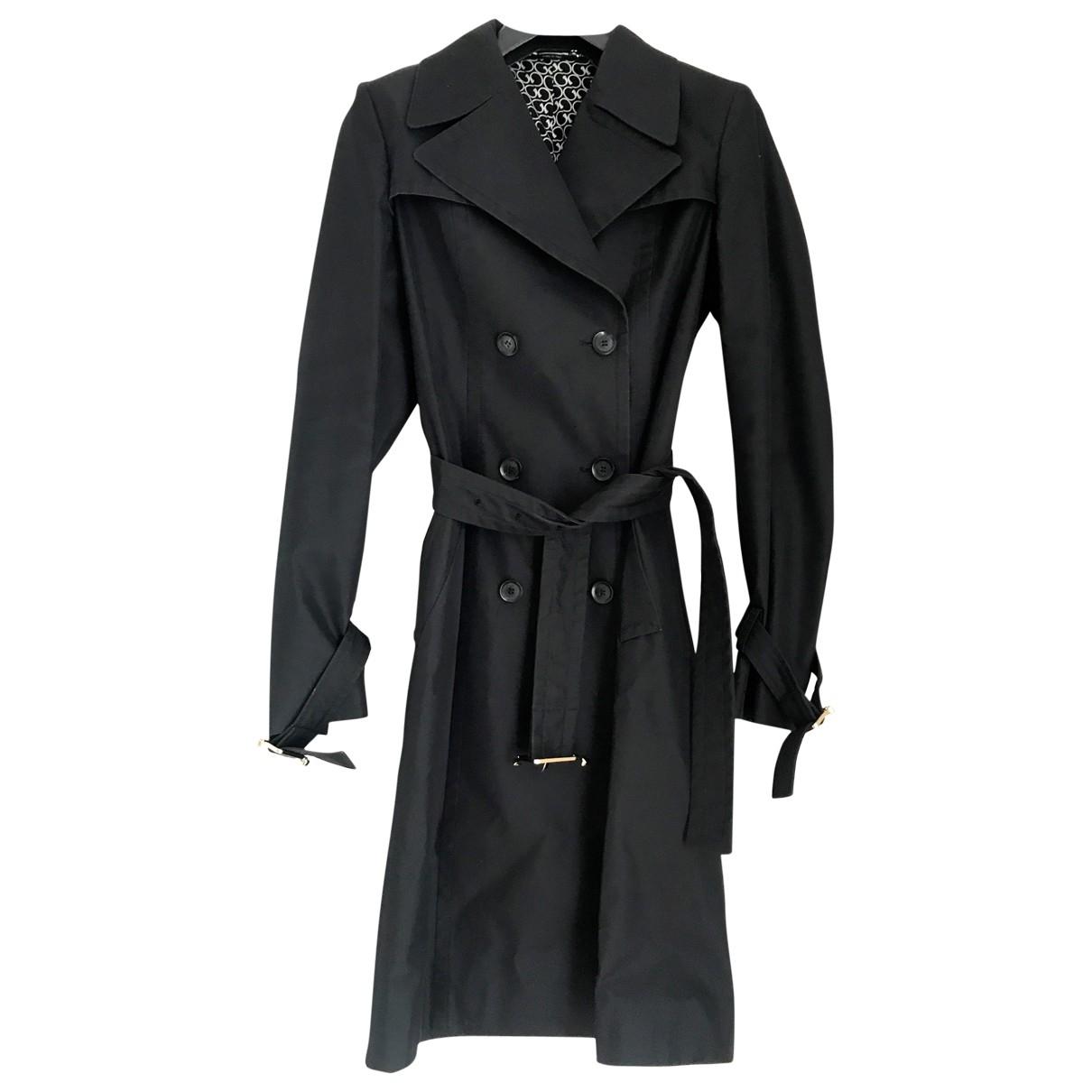 Gucci - Trench   pour femme en coton - noir