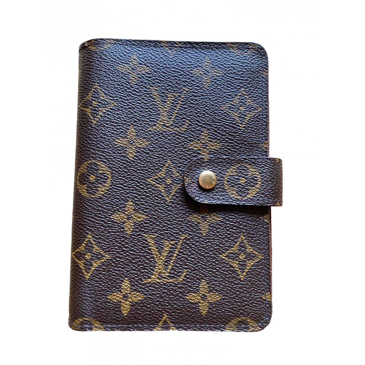 Louis Vuitton \N Portemonnaie in Leinen