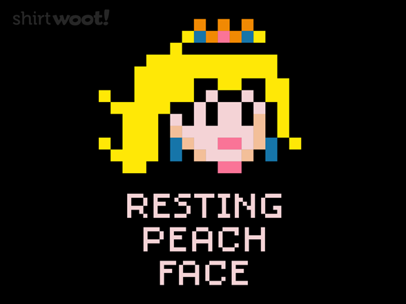 Resting Peach Face T Shirt