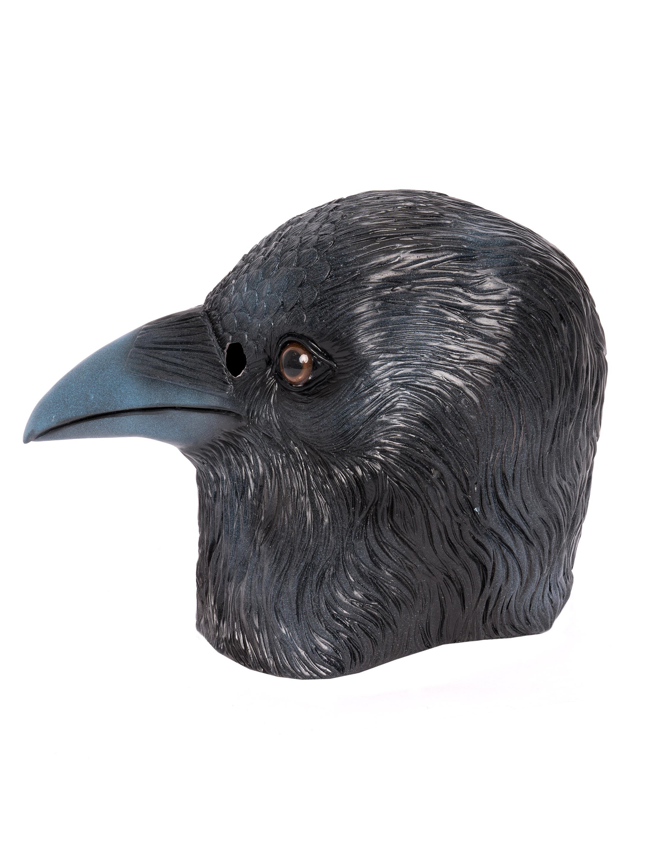 Kostuemzubehor Latexmaske Rabe Farbe: schwarz