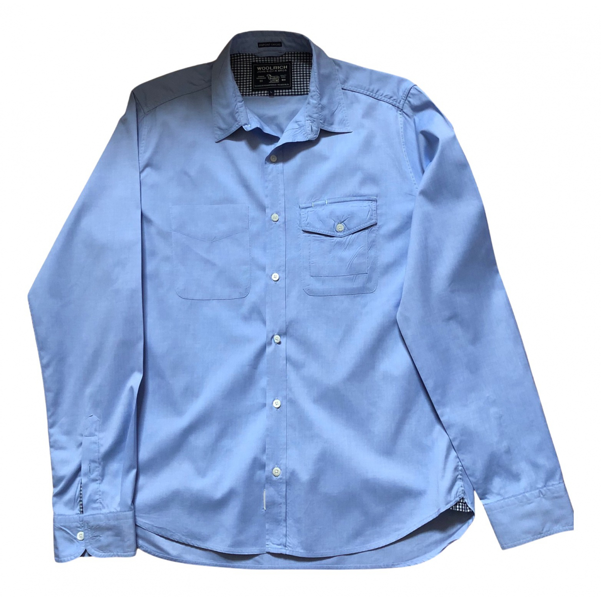 Woolrich N Blue Cotton Shirts for Men L International