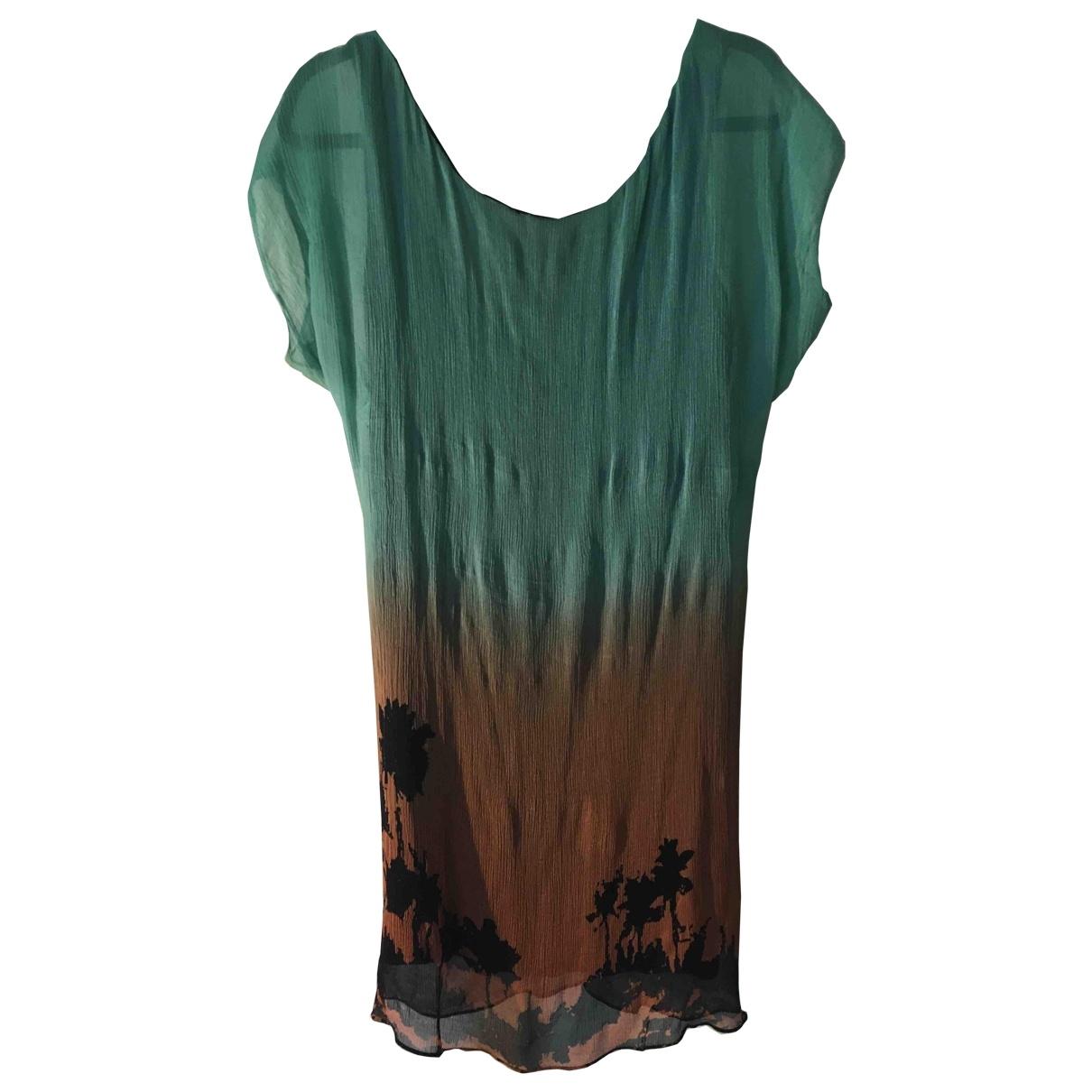 Diane Von Furstenberg \N Blue Silk dress for Women 8 US