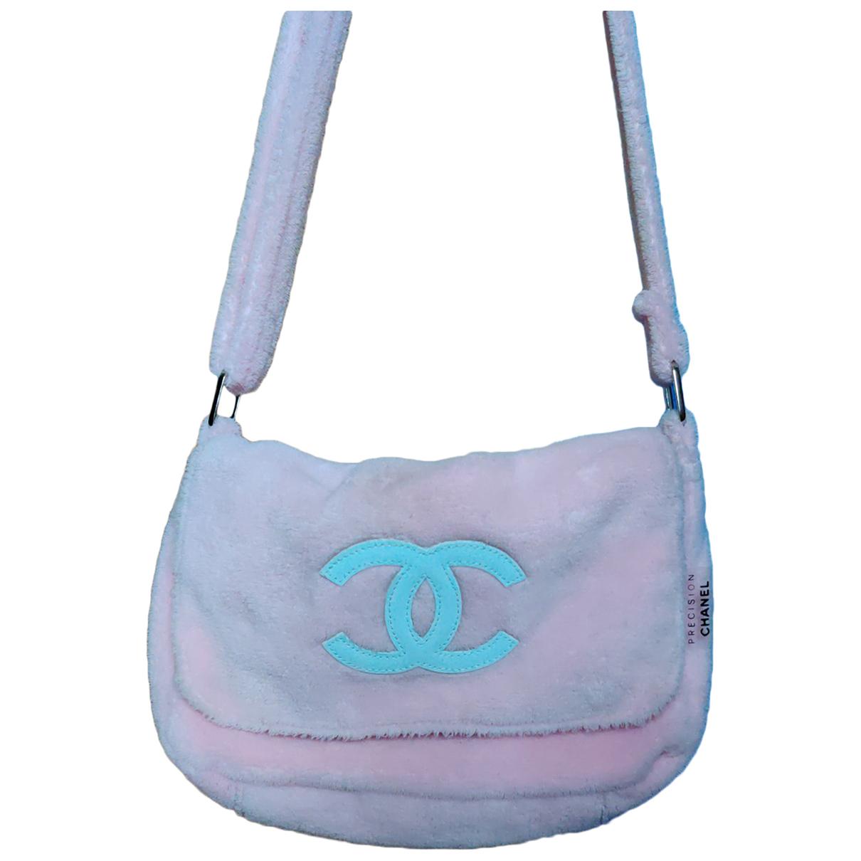 Chanel - Sac a main   pour femme en toile - rose