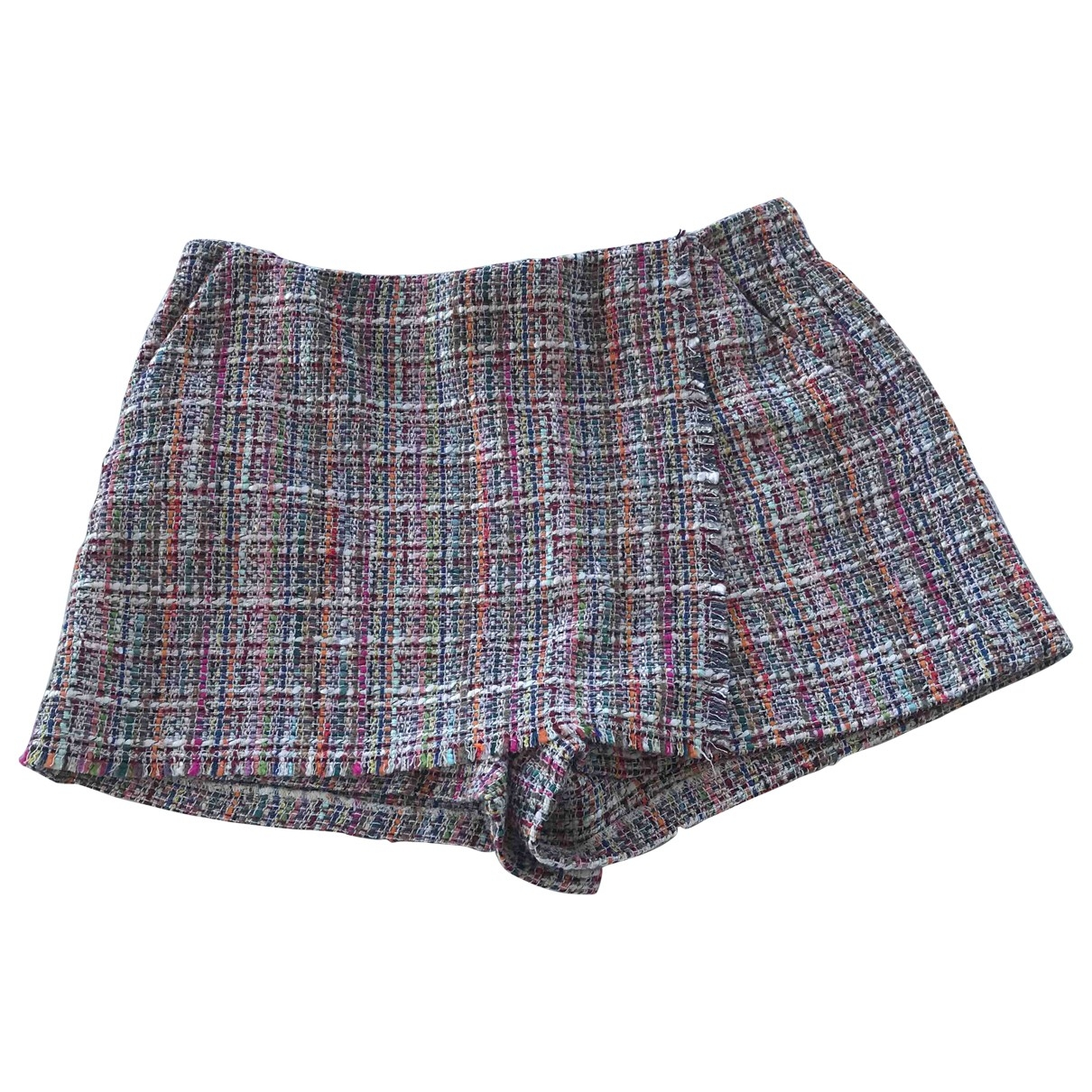 Zara \N Multicolour Tweed Shorts for Women M International