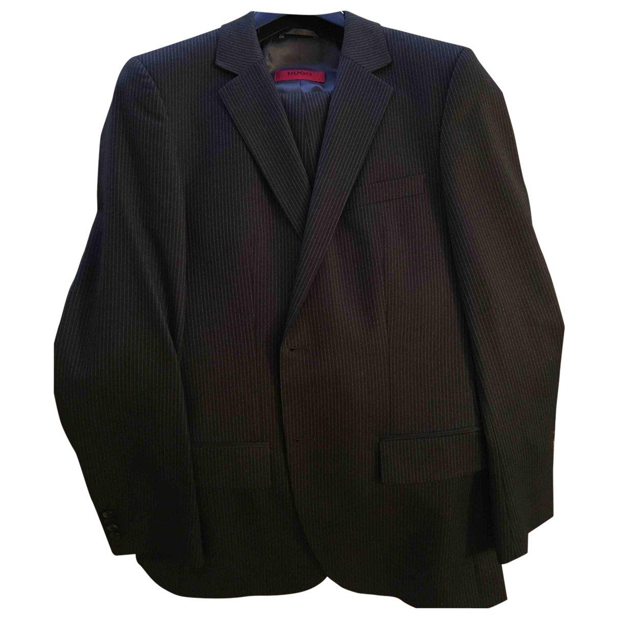 Hugo Boss - Costumes   pour homme en laine - gris