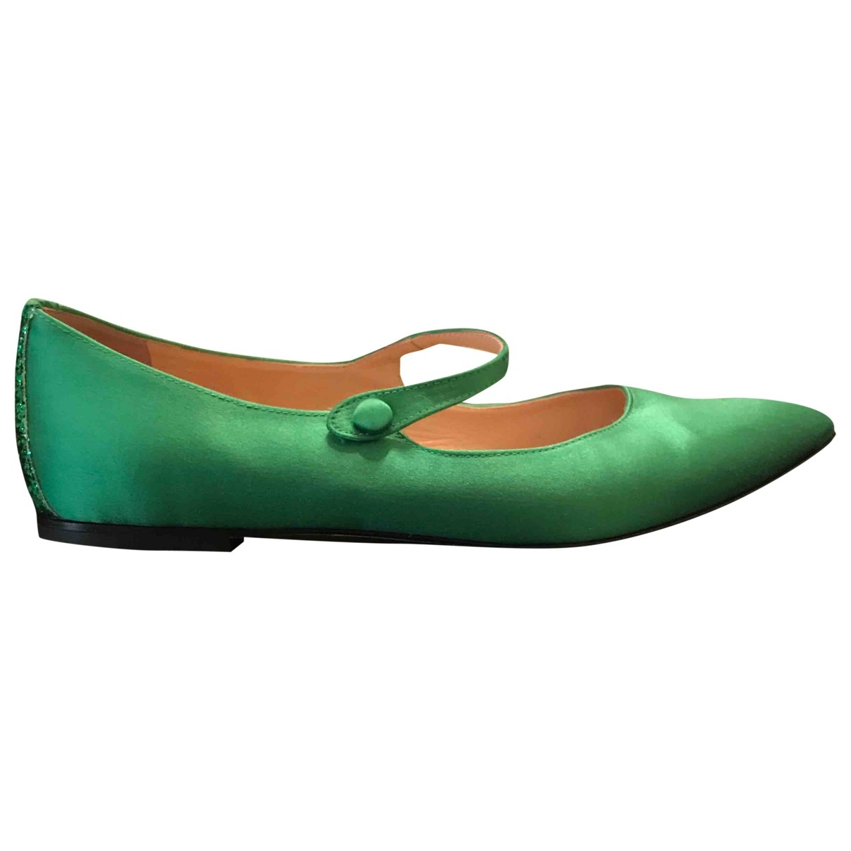 Non Signé / Unsigned \N Green Glitter Ballet flats for Women 39.5 EU