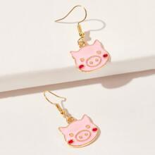 Cartoon Pig Drop Earrings