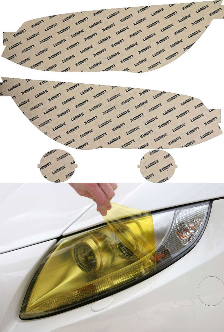BMW 3-Series Coupe   Cabrio 11-13 Yellow Headlight Covers Lamin-X B033Y