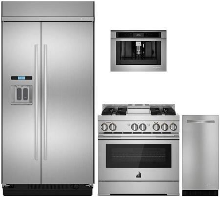 4 Piece Kitchen Appliances Package with JS42SSDUDE 42