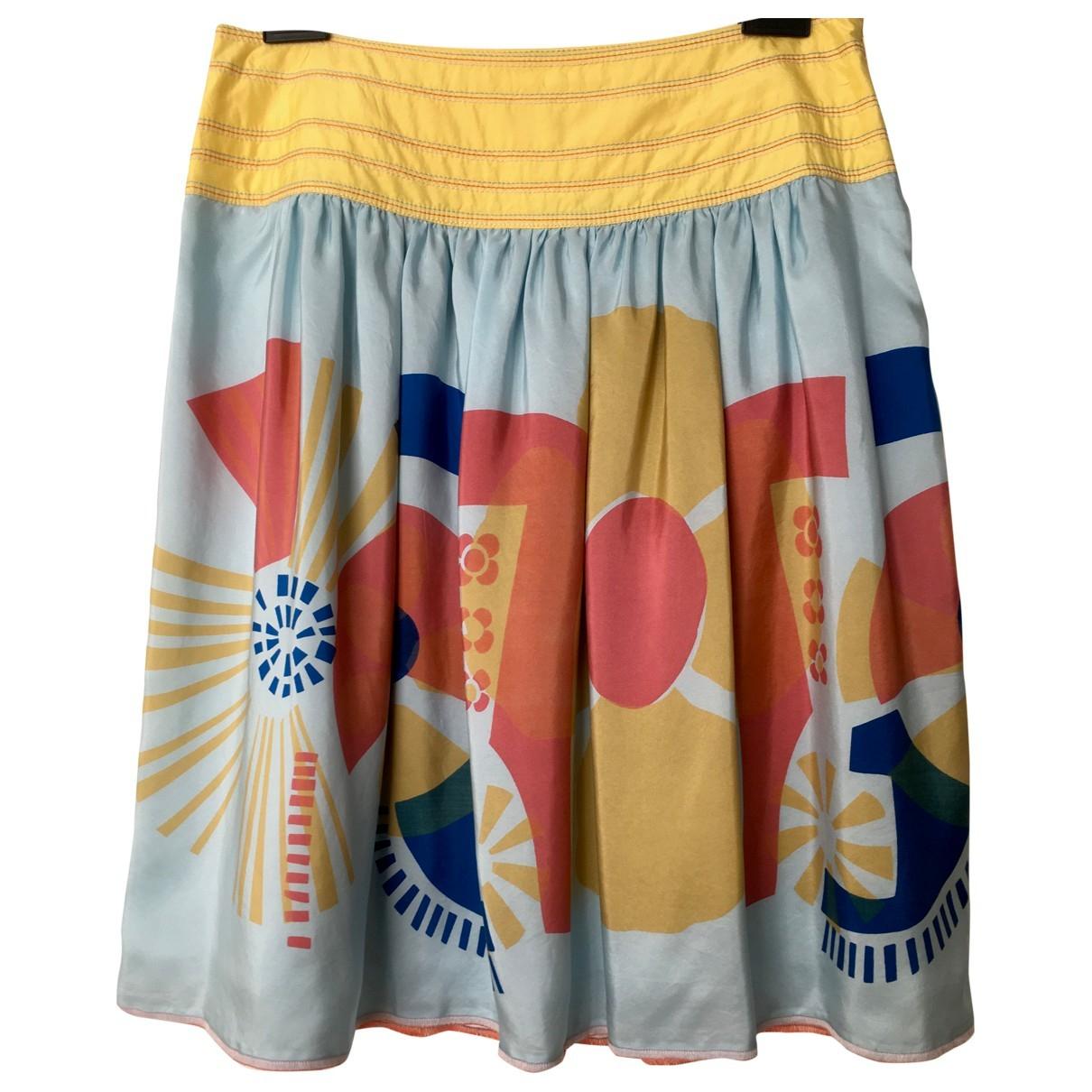 Essentiel Antwerp - Jupe   pour femme en soie - multicolore